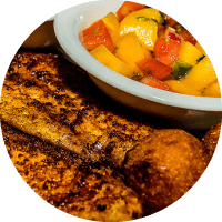 Grilled Catfish with Mango Salsa